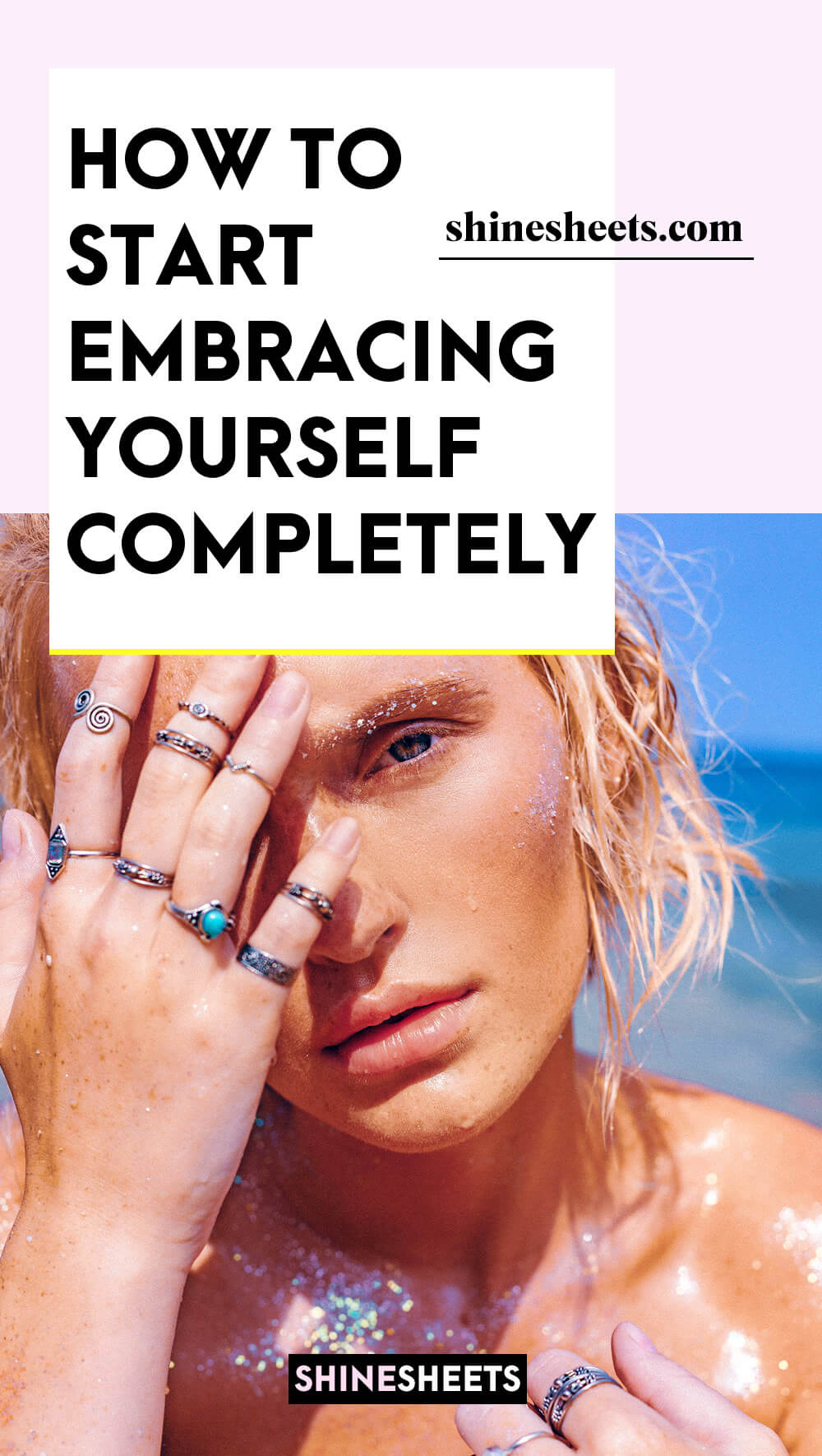 woman in art illustration of how to start embracing yourself