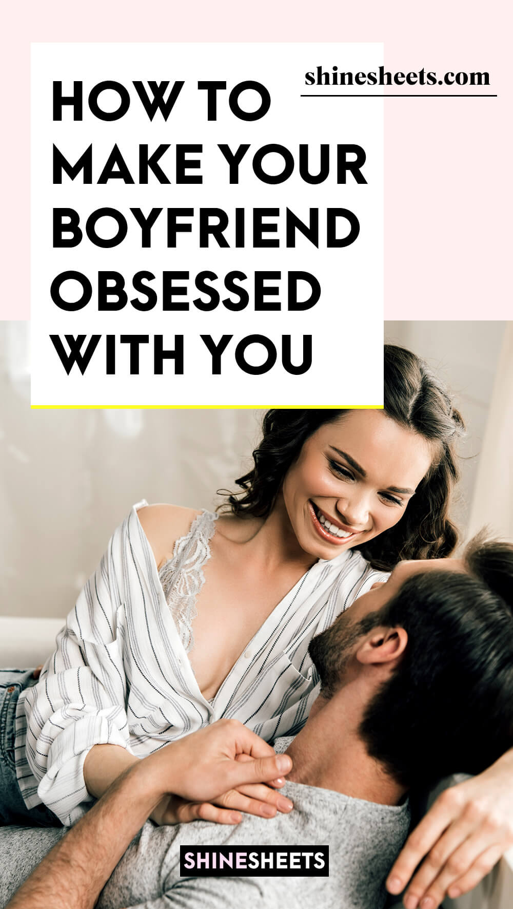 woman showing tricks how to make your boyfriend obsessed with you