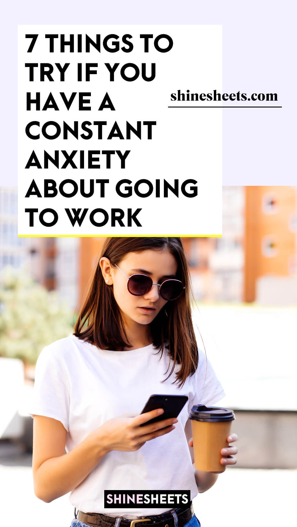young woman with anxiety about going to work every day