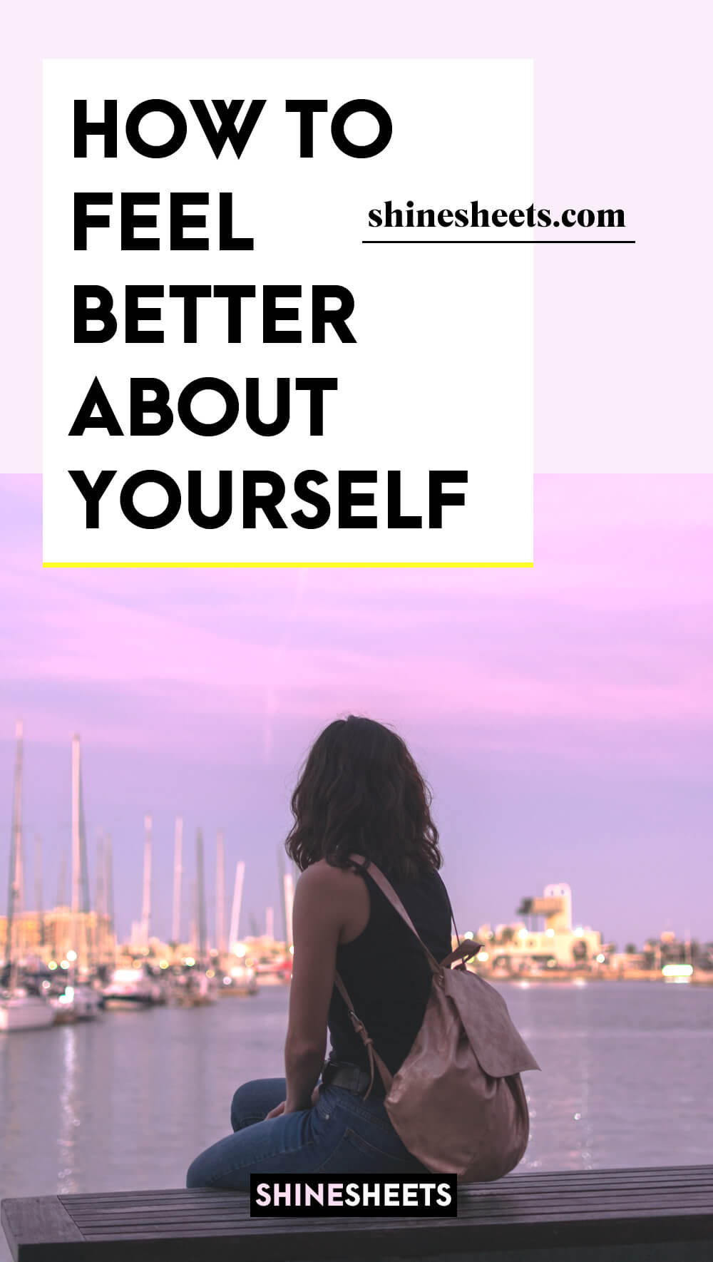 woman in the process of learning how to feel better about yourself