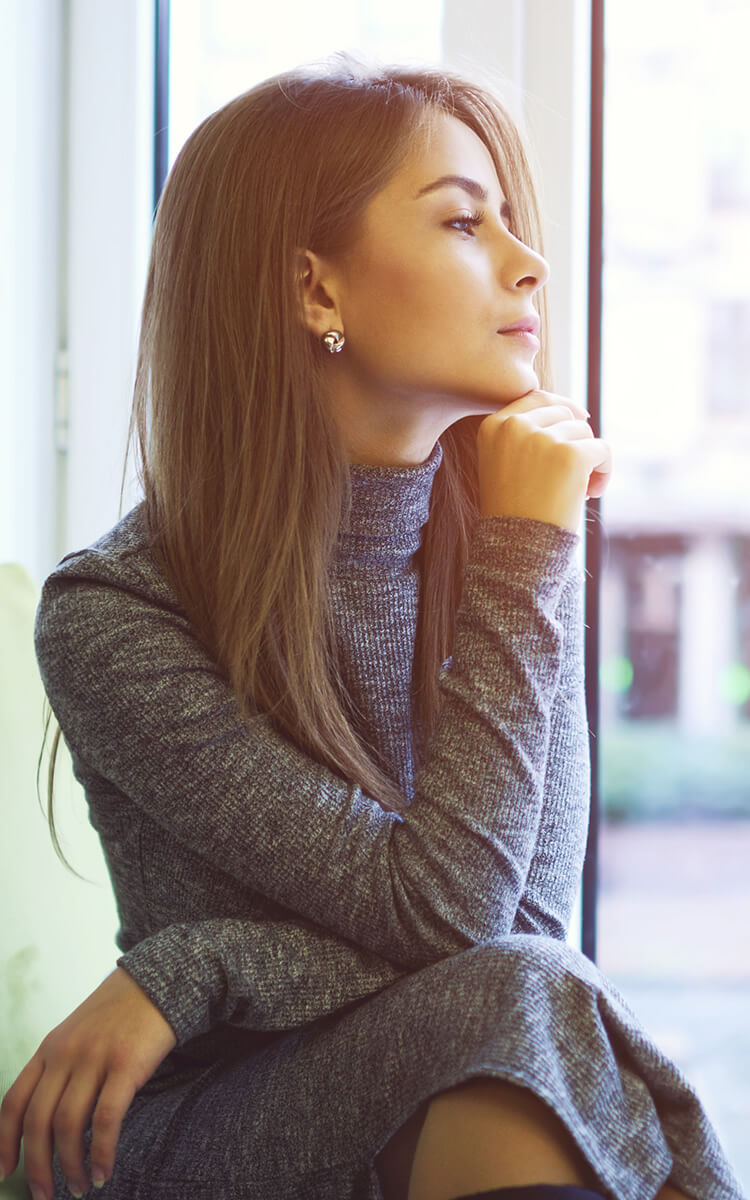 woman learning how to be less sensitive by being present