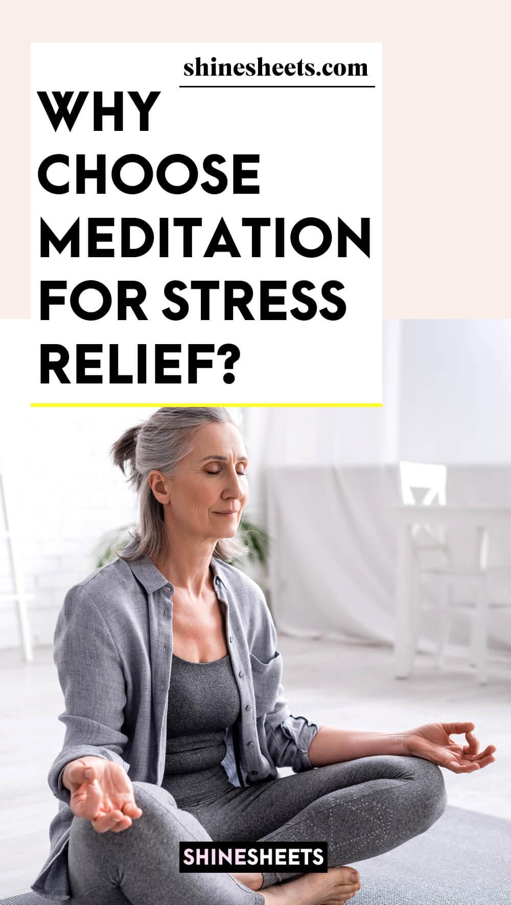 woman with grey hair meditating