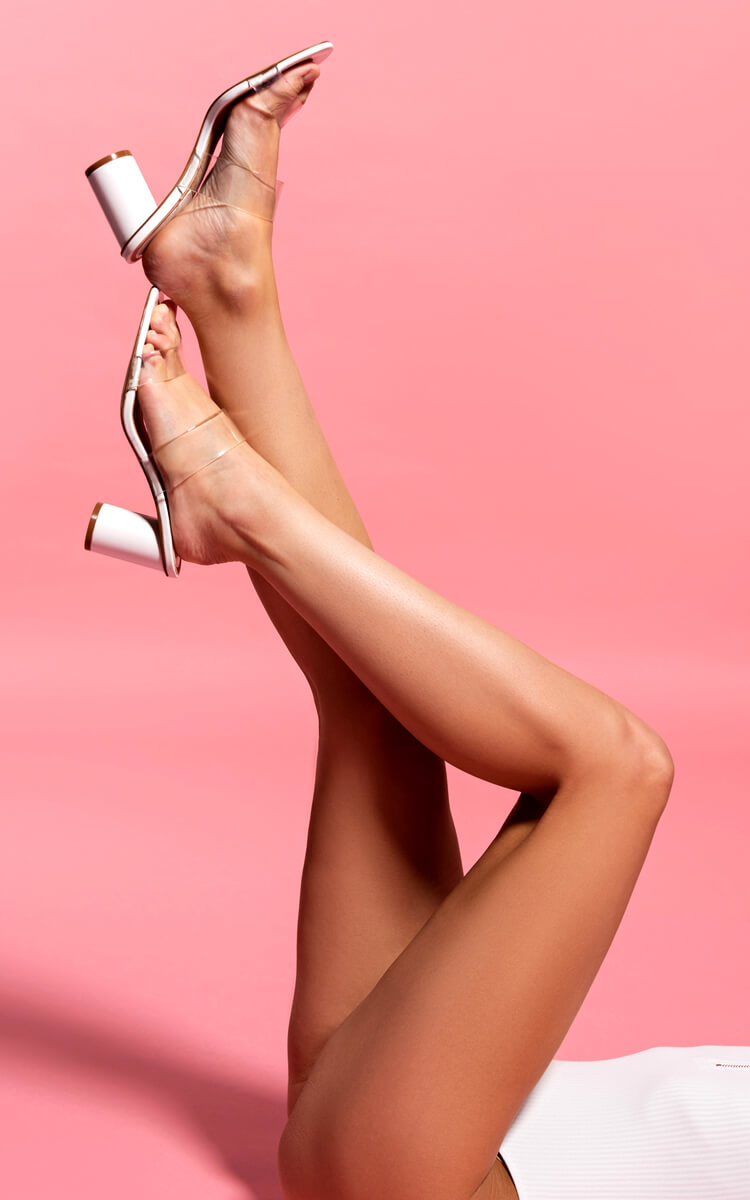 woman with perfectly toned legs