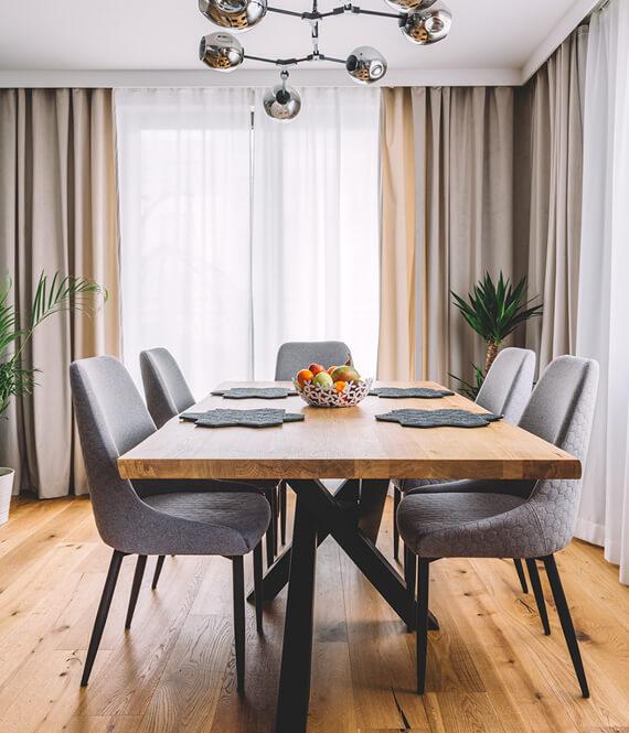 flexible dining area setup