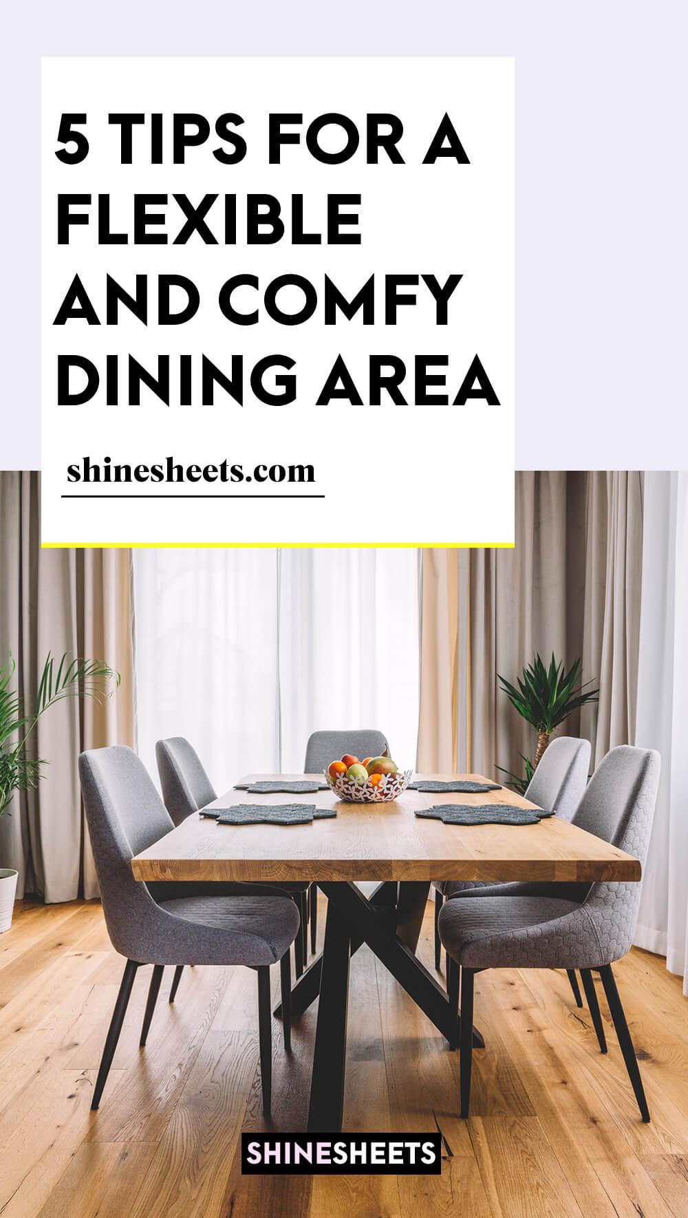 flexible dining area