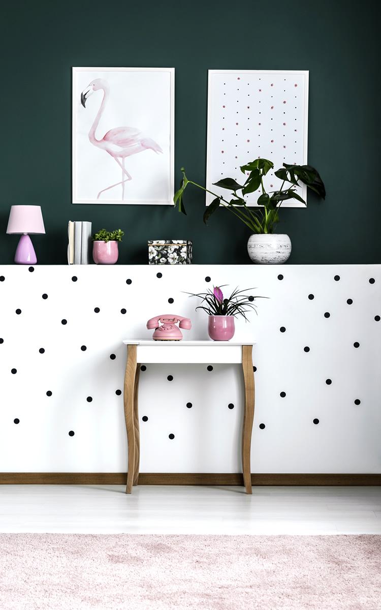 polka dot wall art