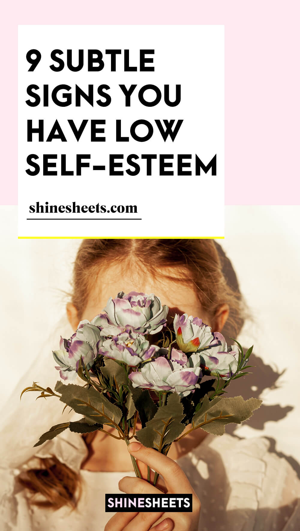 woman with very low self esteem