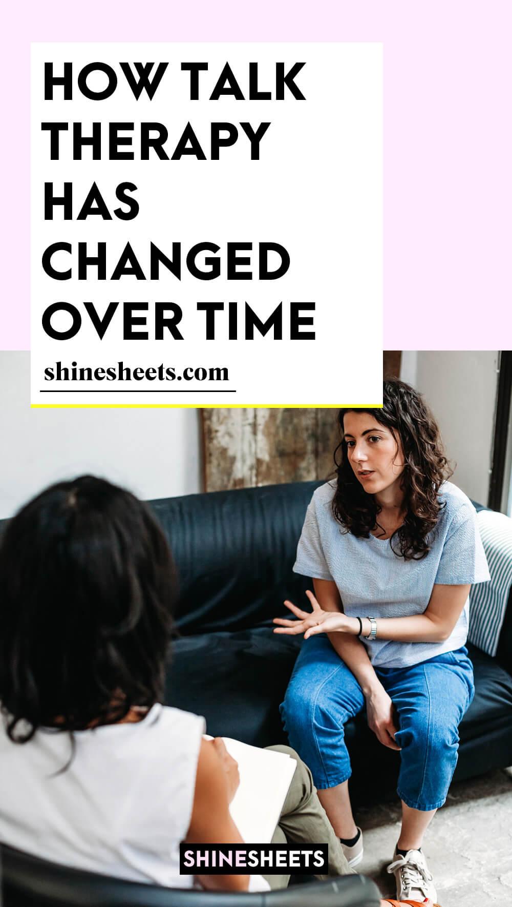 woman talking in talk therapy