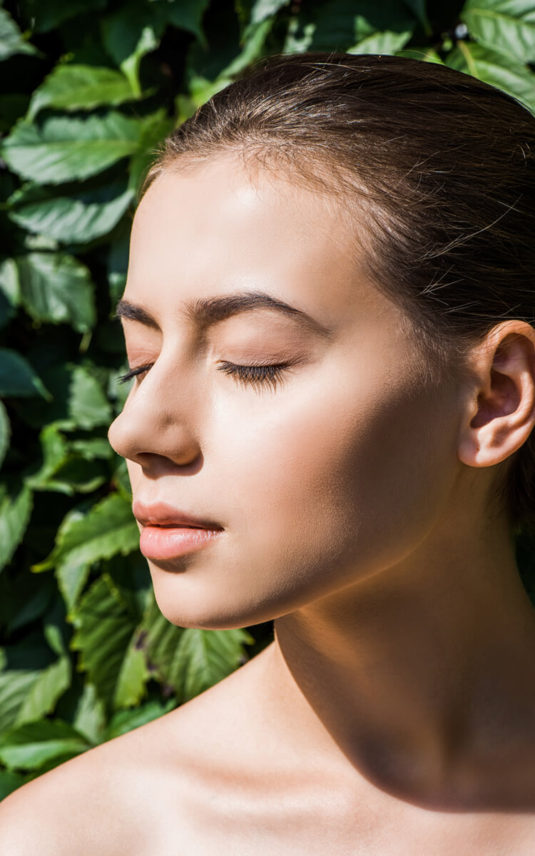 woman with a healthy nose